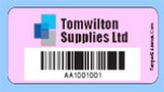 Asset labels with bar code