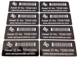 Stock barcoded asset labels